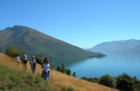 Eco Adventure lake cruise and walk, Wanaka, New Zealand