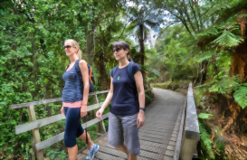 Walking the Huka Trail, near Taupo, New Zealand