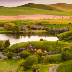 Explore Hobbiton, the original movie set location, New Zealand