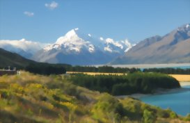View to Mt Cook, New Zealand's highest peak