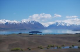 Tekapo and the Surrounding countryside