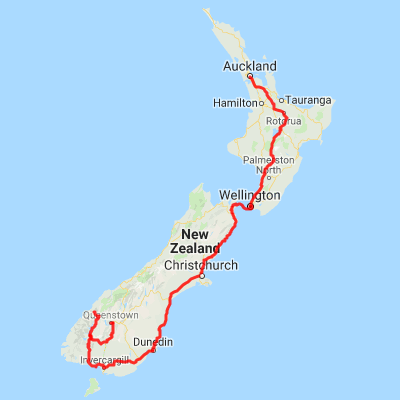 New Zealand Mountains Map.Auckland To Queenstown City To Mountains 16 Day Nz Tour