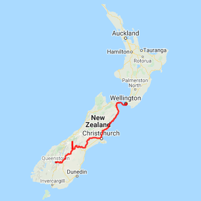 Map Of Palmerston North New Zealand.Wellington To Queenstown New Zealand Self Drive Itinerary