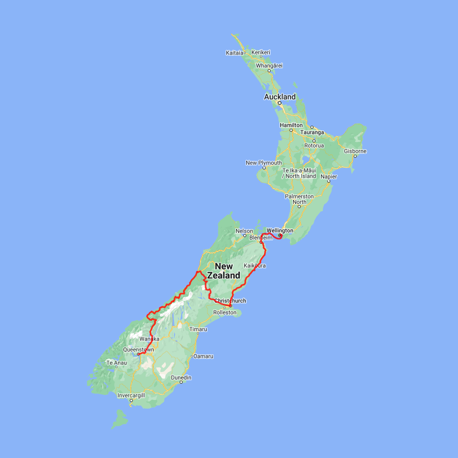 3 day - Christchurch, TranzAlpine and West Coast Glaciers to Queenstown - view full itinerary