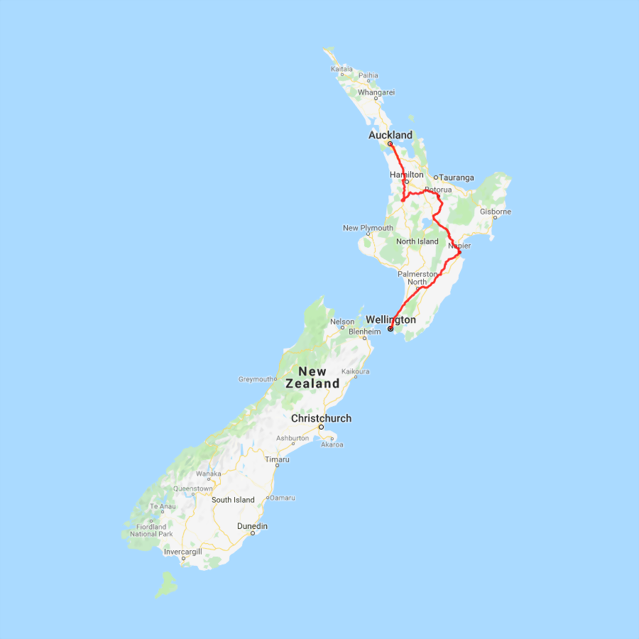 Northbound 4 day Napier, Rotorua & Waitomo Experience - view full itinerary