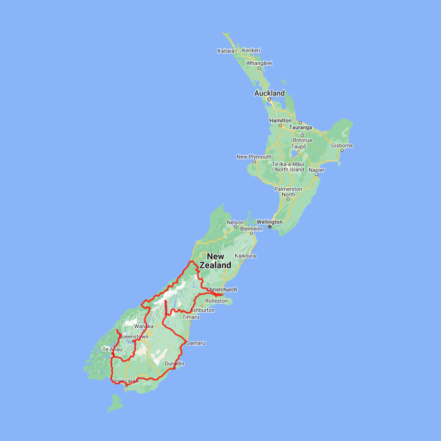 New Zealand Map South.South Island New Zealand Self Drive Tours L Discover Nz