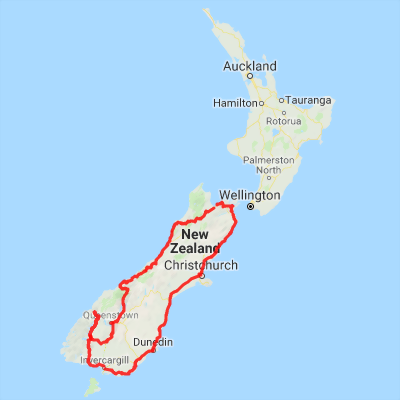 South Island Map Of New Zealand.Coastal Self Drive Tour Of New Zealand S South Island Motels