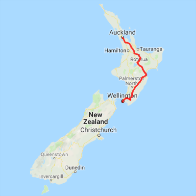 Where Is Wellington New Zealand On The Map.New Zealand Self Drive Tour Auckland To Wellington