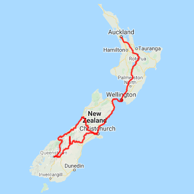 South Island Map Of New Zealand.New Zealand Highlights Auckland To Christchurch