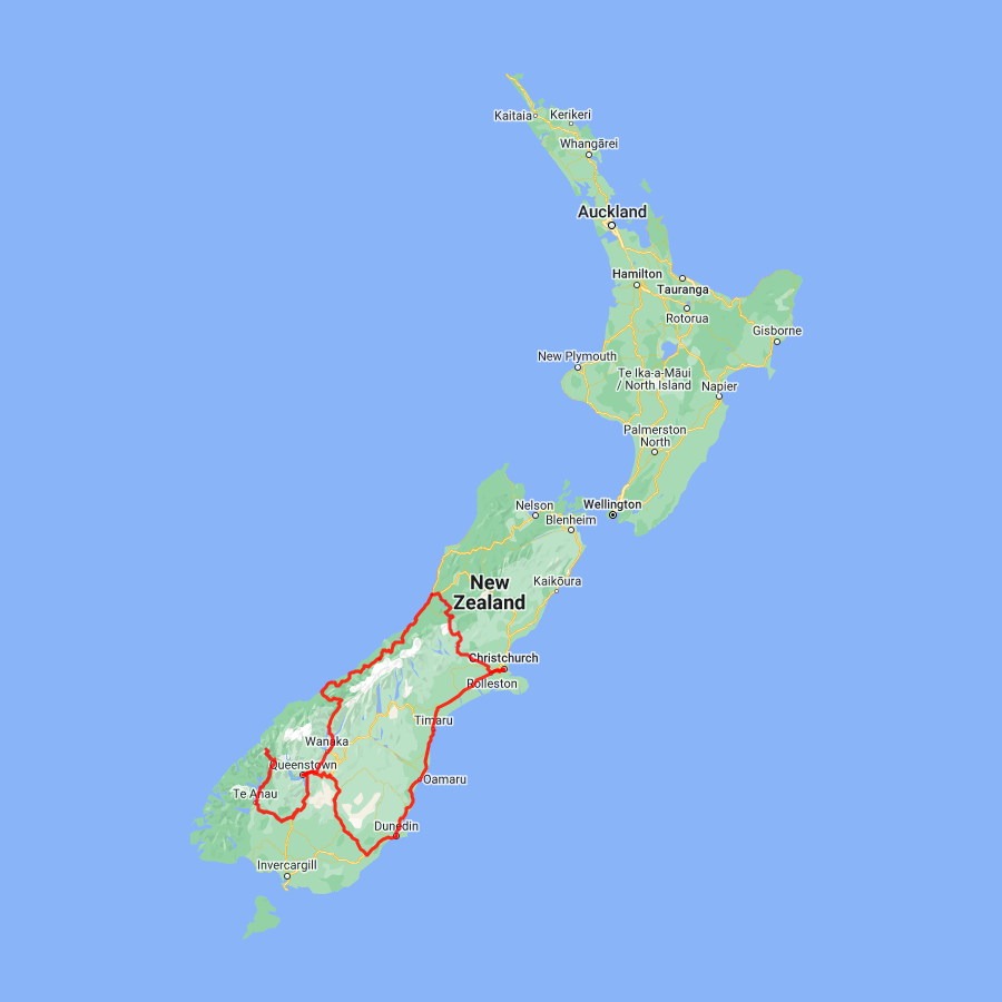 6 day Dunedin, Queenstown, Milford Sound and the Glaciers - view full itinerary
