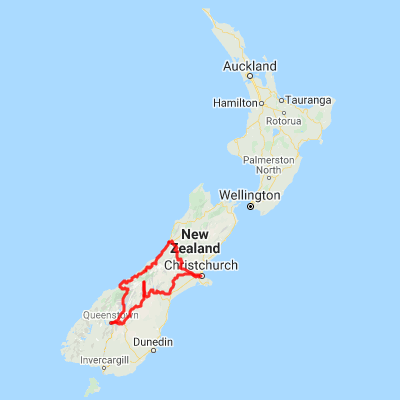 New Zealand Map South.9 Day Southern Alps Lakes Self Drive Tour New Zealand