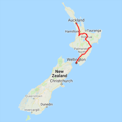 Napier New Zealand Map.North Island Experience North Island New Zealand