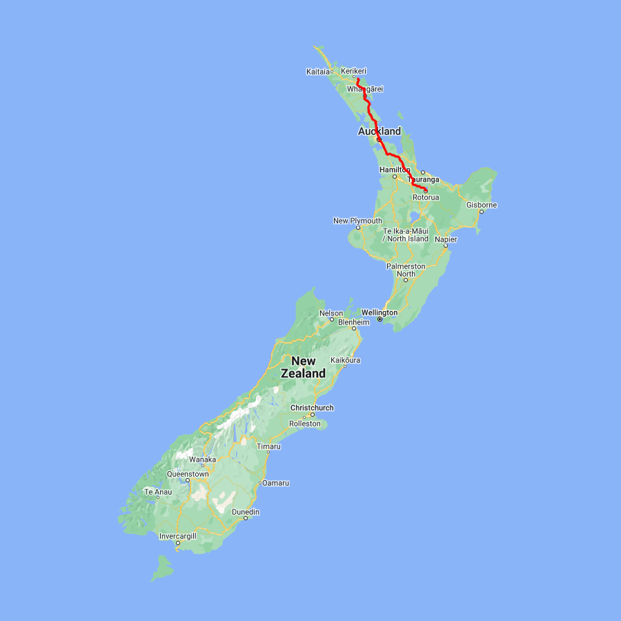 8 day Upper North Island Adventure - view full itinerary