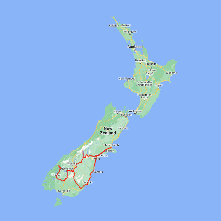 7 day Dunedin, Queenstown, Milford Sound and Mt. Cook - view full itinerary