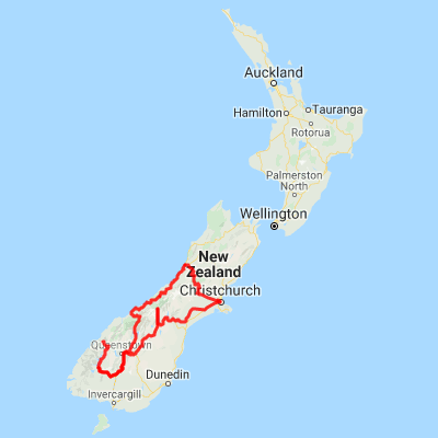 New Zealand Mountains Map.Fiords Glaciers Mountains South Island Self Drive Tour