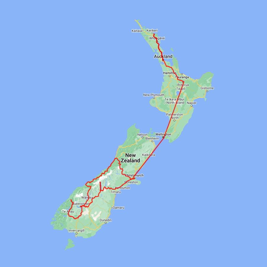 Auckland to Christchurch 17 day Ultimate Explorer - view full itinerary
