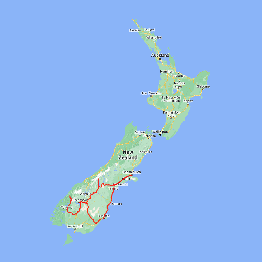 6 day Dunedin, Milford Sound, Queenstown and Mt. Cook - view full itinerary