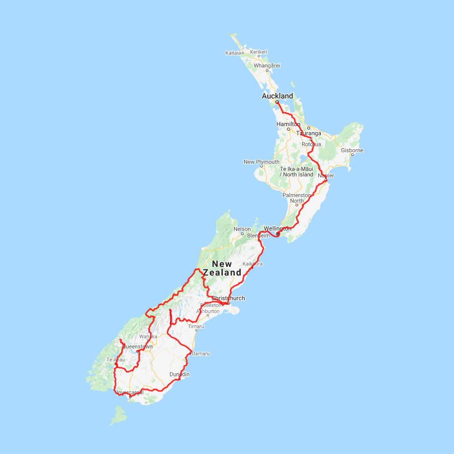 21 Day Classic New Zealand Self Drive Itinerary