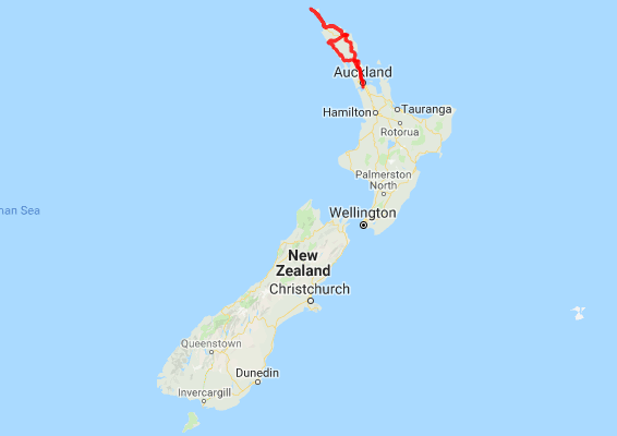 Northland New Zealand Map.7 Day Nz Boutique Northland Self Drive Tour