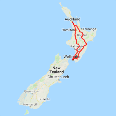 Map Of New Zealand Wellington.11 Day North Island Highlight New Zealand