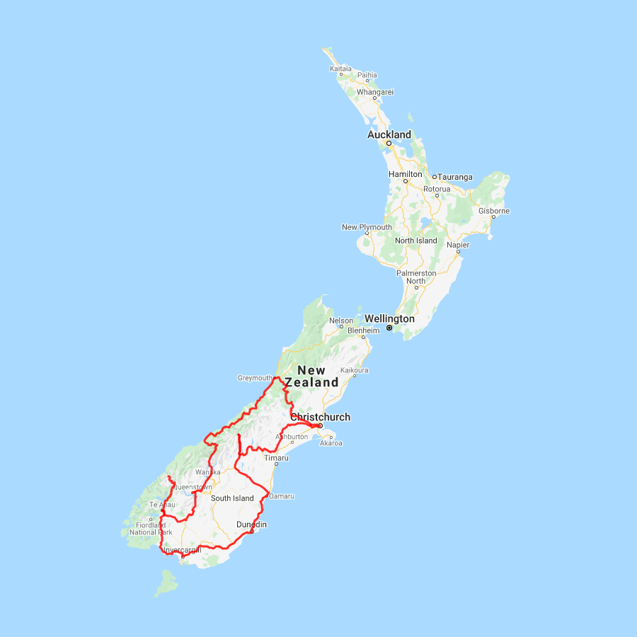 Map New Zealand South Island.South Island New Zealand Self Drive Tours L Discover Nz