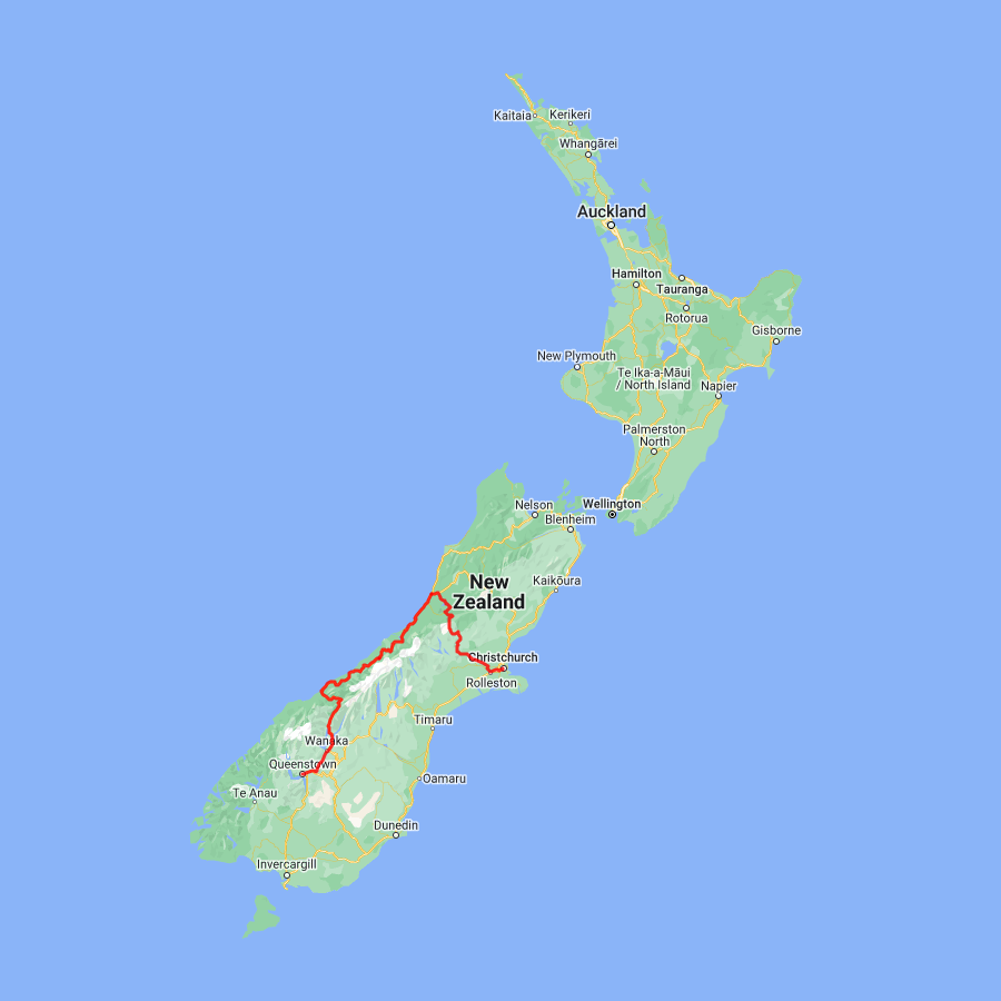 3 day Glaciers and TranzAlpine Queenstown to Christchurch - view full itinerary