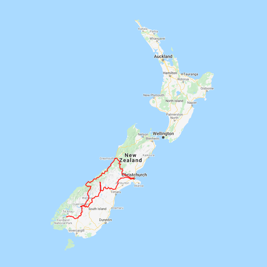 Where Is Christchurch New Zealand On The Map.9 Day New Zealand South Island Self Drive Holiday