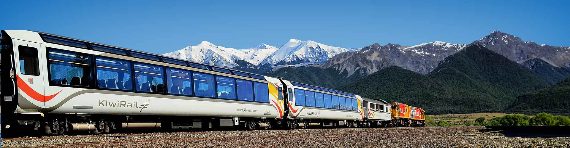 Take the TranzAlpine train on a tour from Christchurch
