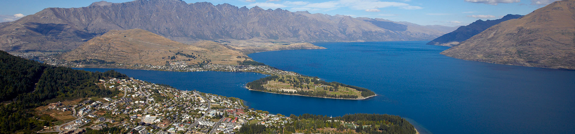 View of Queenstown and Lake Wakatipu