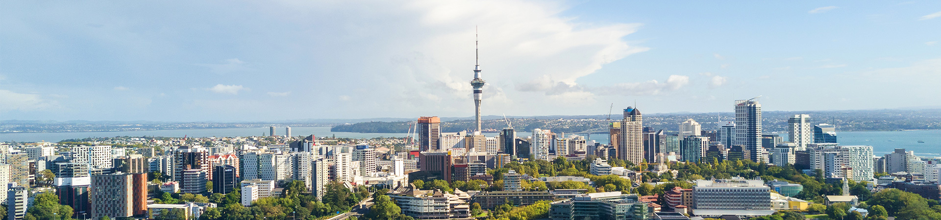 View of New Zealand's largest city, Auckland