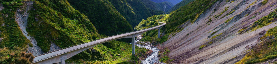 Crossing the Southern Alps, New Zealand