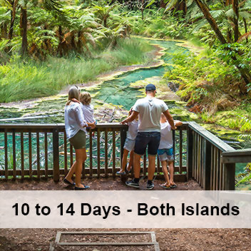 10-14 day self drives through North and South Islands