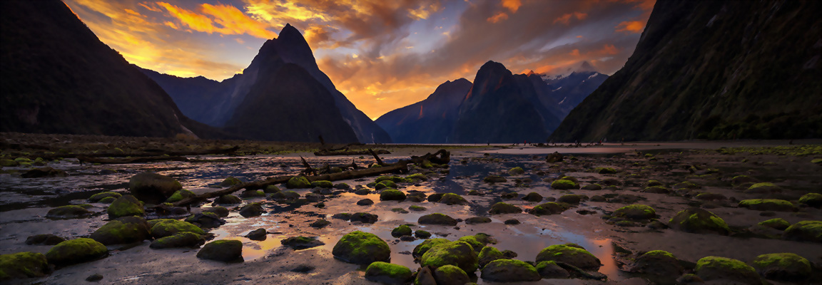Milford Sound sunset, Fiordland National Park