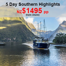 5 day Southern Highlights of New Zealand
